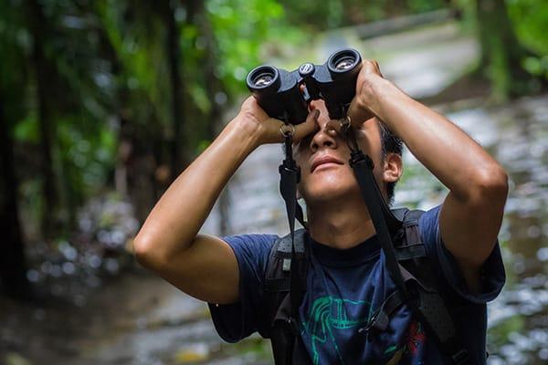 La Selva Amazon Ecolodge & Spa 5-Day Lodge Program Day Five -  Using Binoculars in the Jungle.