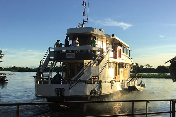 Barco Mutum's 4-Day Jaguar Nights Itinerary Day One -  Embarkation.