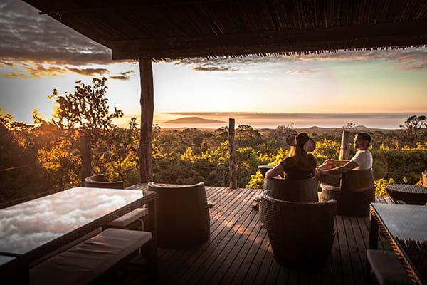 Galapagos Safari Camp's Classic Safari Day Five - Lounge Area.