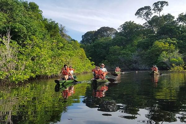 Juma Amazon Lodge's 5-Day Tucano Program Day Four - Canoeing Excursion.