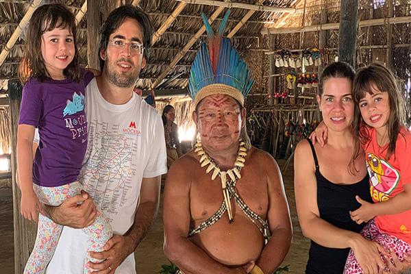 Juma Amazon Lodge's 4-Day Mutum Program Day Two - Meeting local inhabitants.