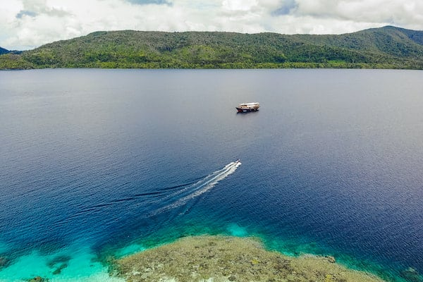 Rascal's 12-Day Spice Islands Crossing Ambon to Raja Ampat - Day 9 - Tender heading back to Rascal
