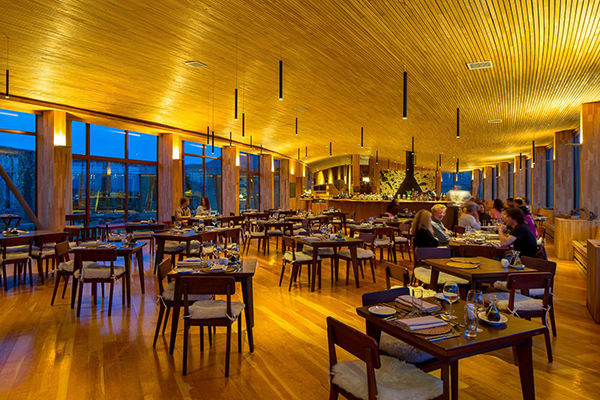 Tierra Patagonia's 7-Day All Inclusive Program Day One - Dinner service.