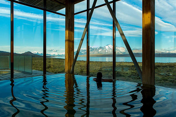 Tierra Patagonia's 7-Day All Inclusive Program Day Two - Spa facilities.