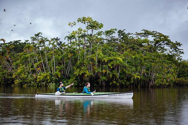 Manatee Amazon's 8-Day Itinerary Day Four - Kayaking on the Amazon River.