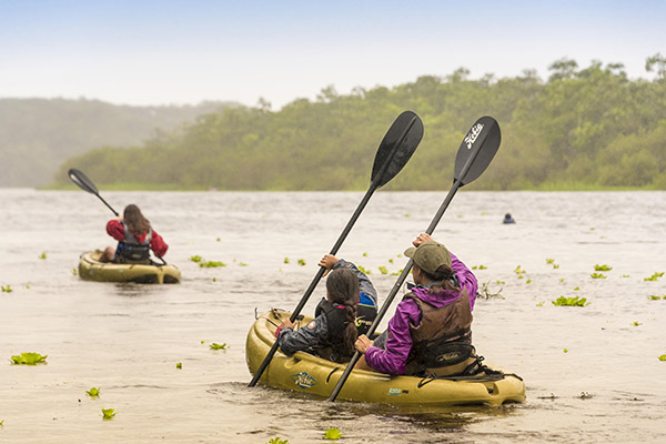 Perla's 4-Day Marañon Itinerary Day Two - Kayaking on the Amazon river.