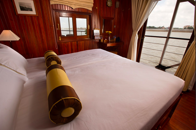 Angkor Pandaw's Upper Deck Stateroom