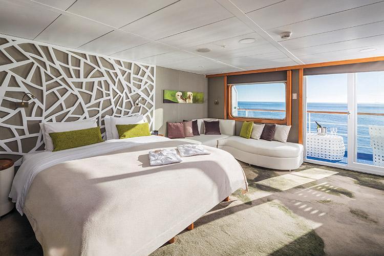 Galapagos Legend's Legend Balcony Suite.