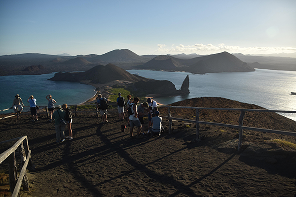 Galapagos Legend's 4-Day 'C' Itinerary Day One - Pinnacle Rock.