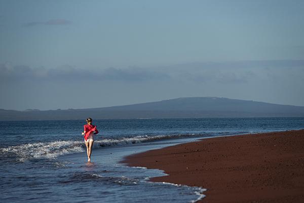 Galapagos Legend's 5-Day 'B' Itinerary Day Two - Walking along Rabida beach.