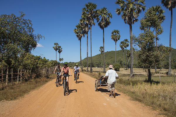 Aqua Mekong's 5-Day Mekong Explorer Upstream Day One - Excursion On Bike