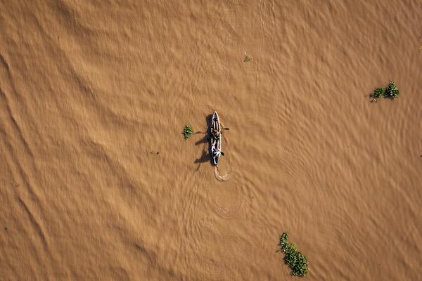 Aqua Mekong's 5-Day Mekong Explorer Upstream Day Four - Mekong River Drone View