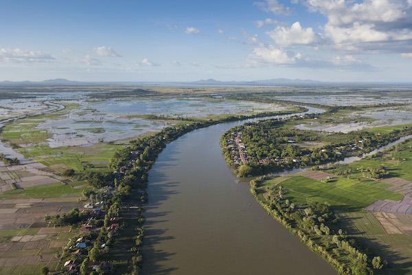 Aqua Mekong's 8-Day Mekong Expedition Upstream Day Eight - Mekong River Drone View