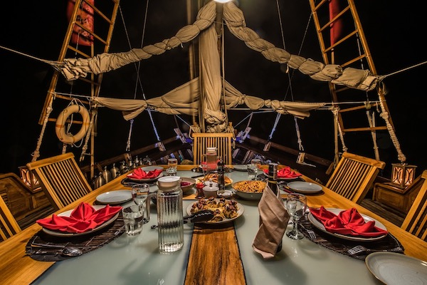 Carpe Diem's 8-Day Komodo Islands - Day Four - Dinner Set Up On Board