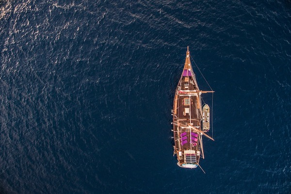 Carpe Diem's 8-Day Central and North Raja Ampat - Day Three - Ship Drone View