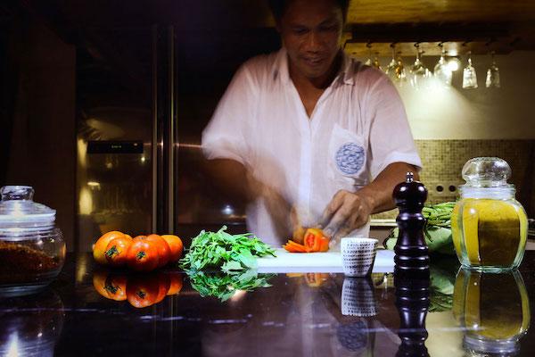 Alexa's 11-Day Maumere to Ambon via Alor & The Banda Islands - Day Ten - Private Chef Preparing Meals