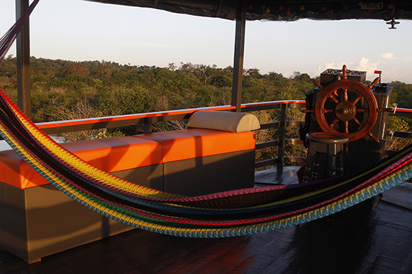 Amazon Eco Boat's 5-Day Evasion Cruise Day Three -  Relaxing Lounge Area.