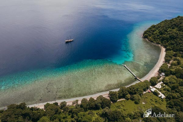 Adelaar's 12-Day Alor & The Forgotten Island: Maumere to Saumlaki - Day One - Boat Drone View