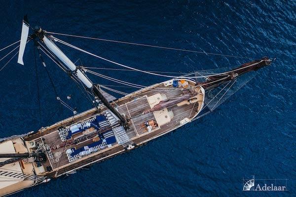 Adelaar's 12-Day Banda Sea: Ambon to Saumlaki - Day One - Sundeck Drone View