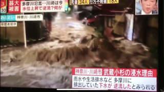 武蔵小杉の浸水理由、雨水や生活排水など多摩川に排出していた下水が逆流したとみられる