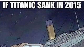 If Titanic sank in 2015. もしタイタニック号が2015年に沈没したら