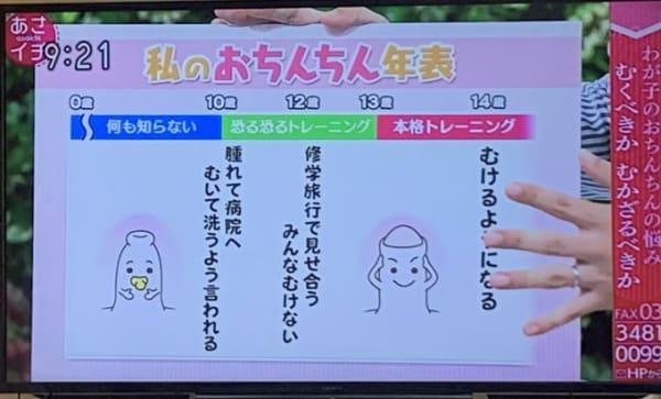 私のおちんちん年表 むくべきか、むかざるべきか どうする? 息子のおちんちん NHKあさイチ