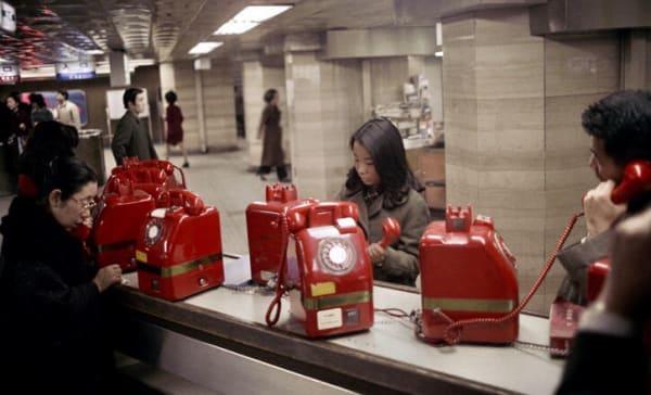 昭和レトロ赤電話