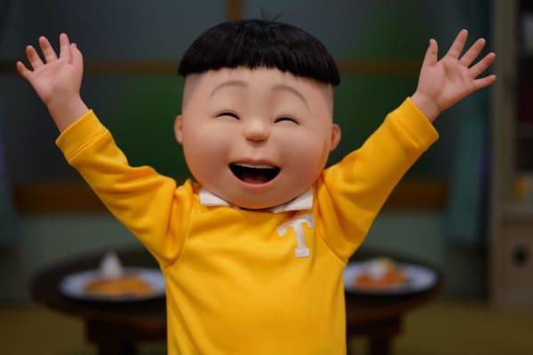 タラちゃん タラオ リアルな等身大模型 リアルな人形