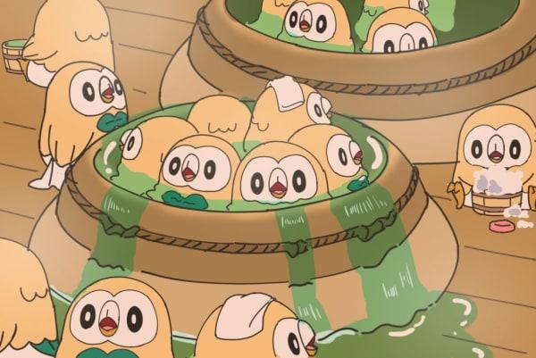モクロー お風呂 大量 ポケモン