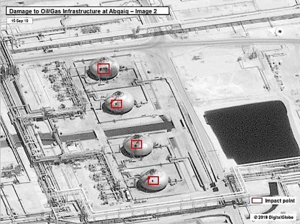ドローンの攻撃でサウジアラビアの巨大な石油産業の施設が大打撃