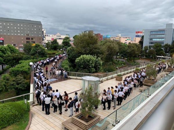 台風15号 電車復旧 駅 行列 津田沼