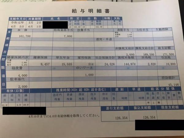 沖縄の保育士の給料 7年目 12万6千354円