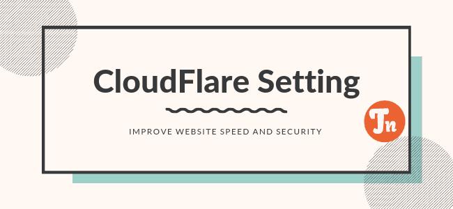 CloudFlare Setting