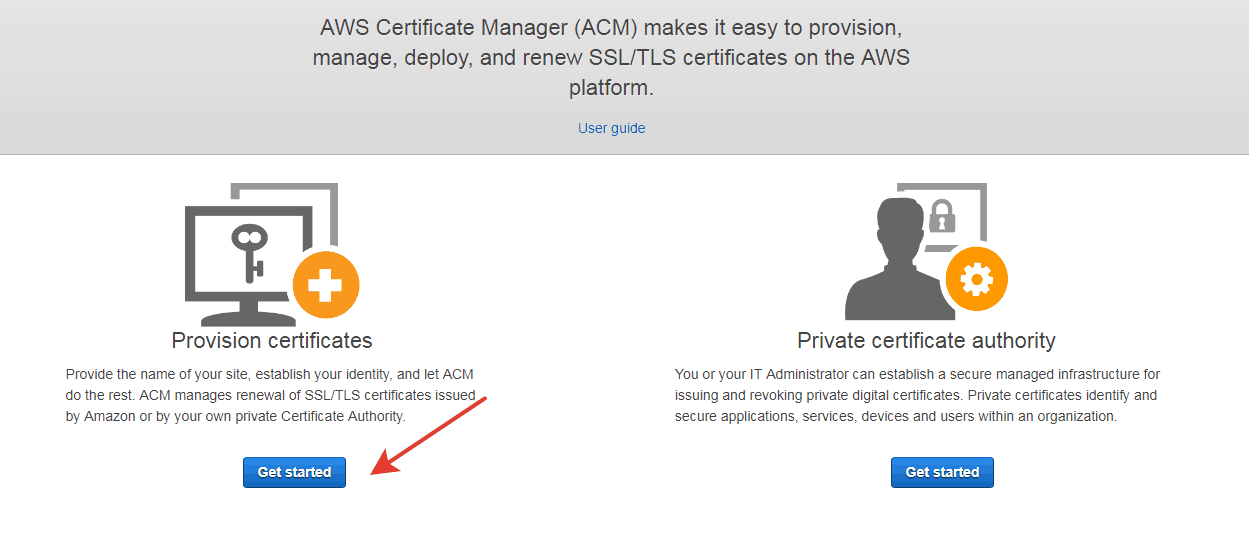 Aws certificate manager(ACM)