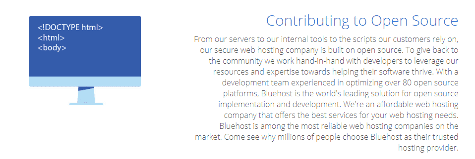 Bluehost contribution in open source