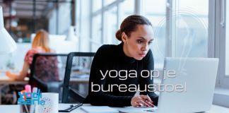 yoga op je bureaustoel