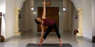 Gina Biervliet voor Yogisan in de Asana van de week