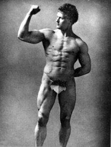 Portret van Eugen Sandow, 1889, door Henry Van der Weyde (CC Wikimedia)