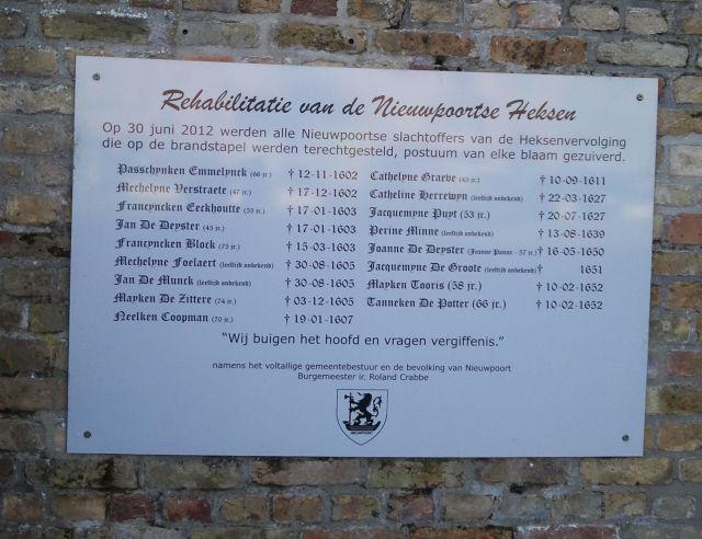 Spirituele verhaal: Vrijgemaakt voor het begin. Monument voor heksen in Nieuwpoort.