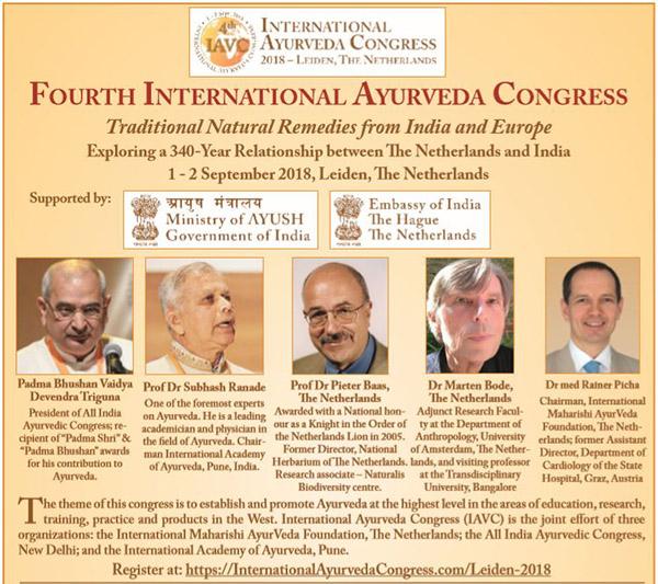 flyer internationaal ayurveda congres