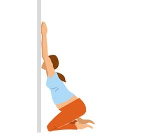 zwangerschapsyoga yogaoefening schouderstretch