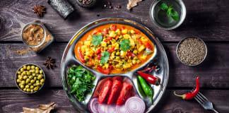Ayurveda en voeding; mutter Paneer