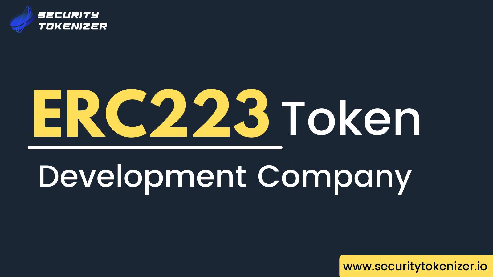 ERC223 Token Development Company