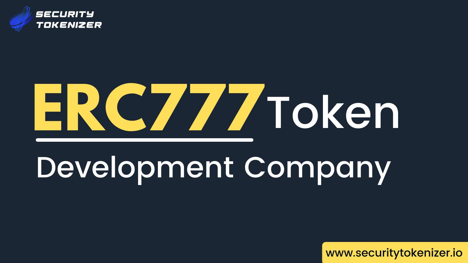 ERC777 Token Development Company