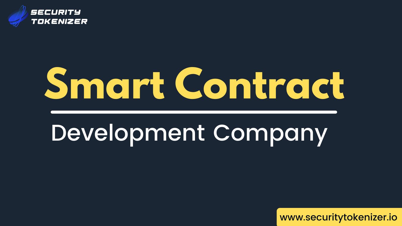 Smart Contract Development Company - Security Tokenizer