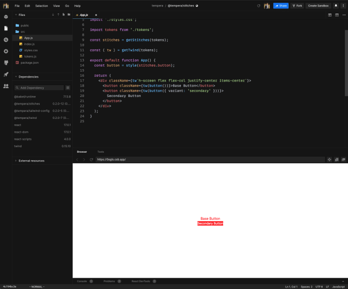 stitching styles to a headless ui using design tokens and twind