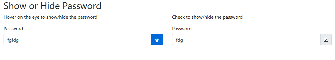 AtoZSourceCode: How to hide or show password using jquery bootstrap