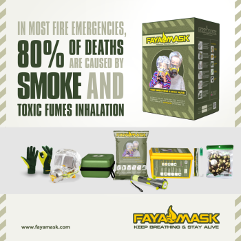 FAYAMASK PERSONAL SURVIVAL WALL KIT FOR FIRE ESCAPE