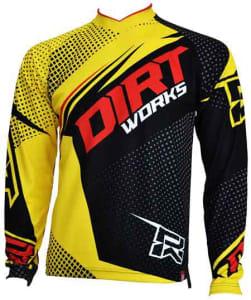 Jersey Sepeda Dirtworks Vektr Kuning - Jual Baju Jersey