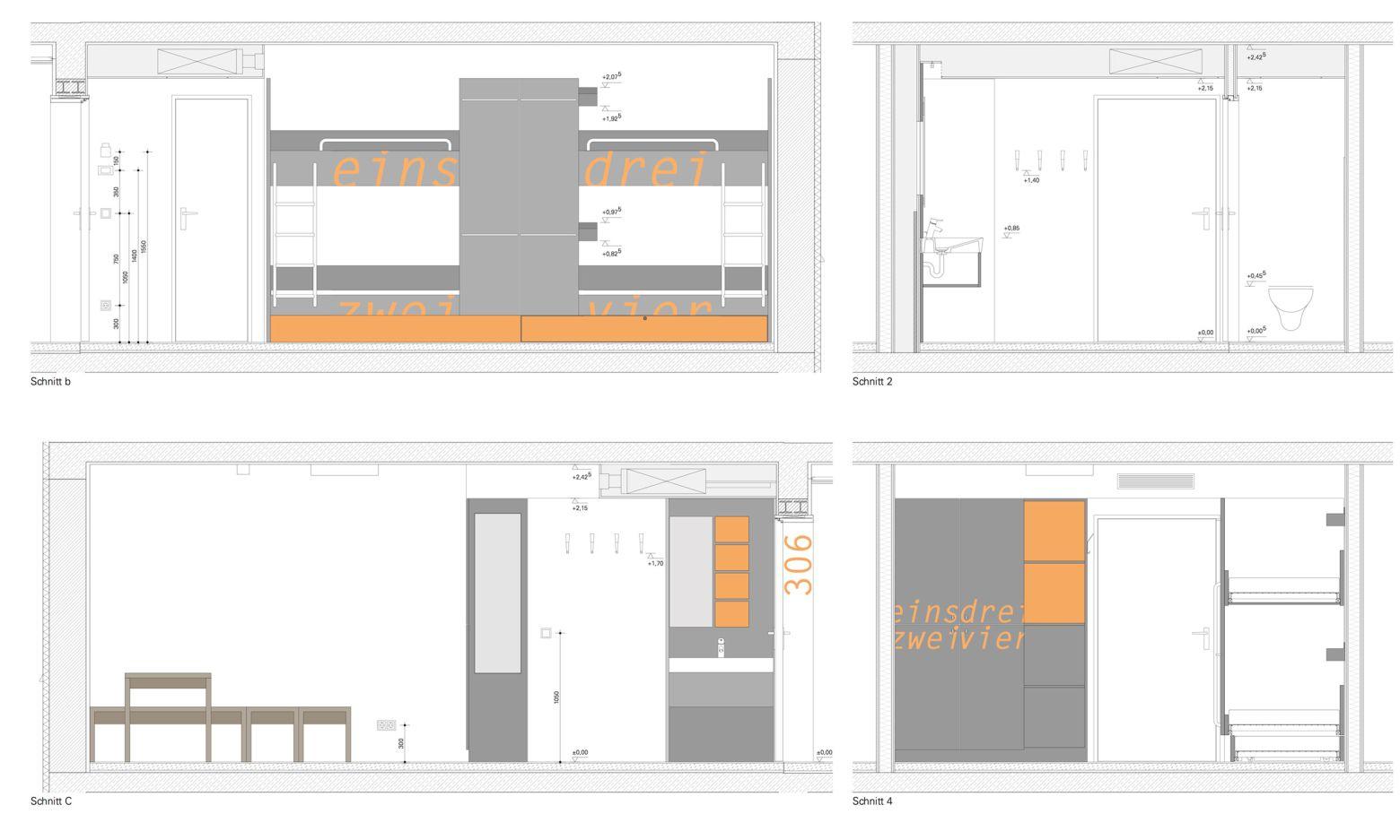 Planung Vierbettzimmer
